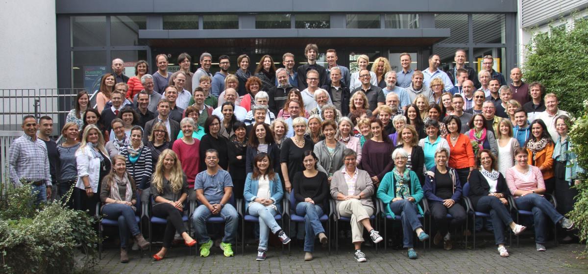 Das Kollegium der Gesamtschule Meiderich zu Beginn des Schulajhrs 2014/15