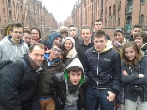 GSM-Schüler in der Speicherstadt