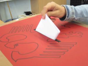 Stimmabgabe bei der U18-Bundestagswahl